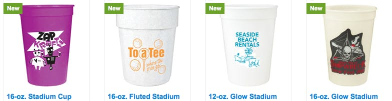 Plastic stadium cups Beer glass sold by Luscan Group