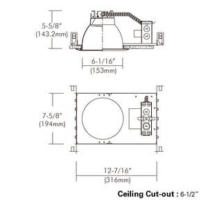 """6"""" Non-IC Commercial Flat Frame-in Kit Downlight with Interchangeable - sold by RelightDepot.com"""
