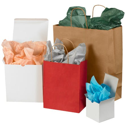 Colored Tissue Paper Sheets Kraft packaging sold by Ameripak, Inc.
