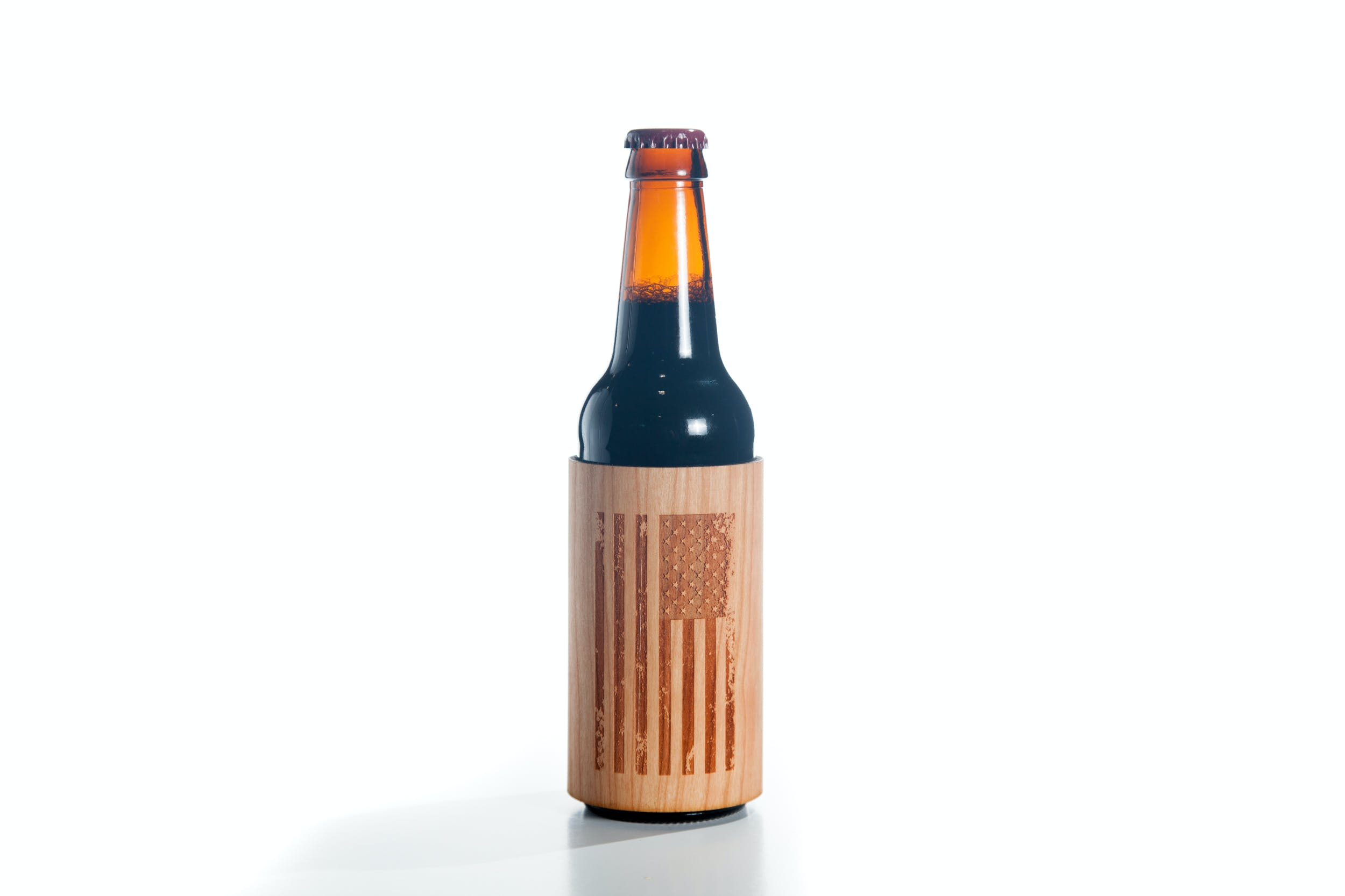 Real Wood Bottle Koozie Koozie sold by Just 1 Tree