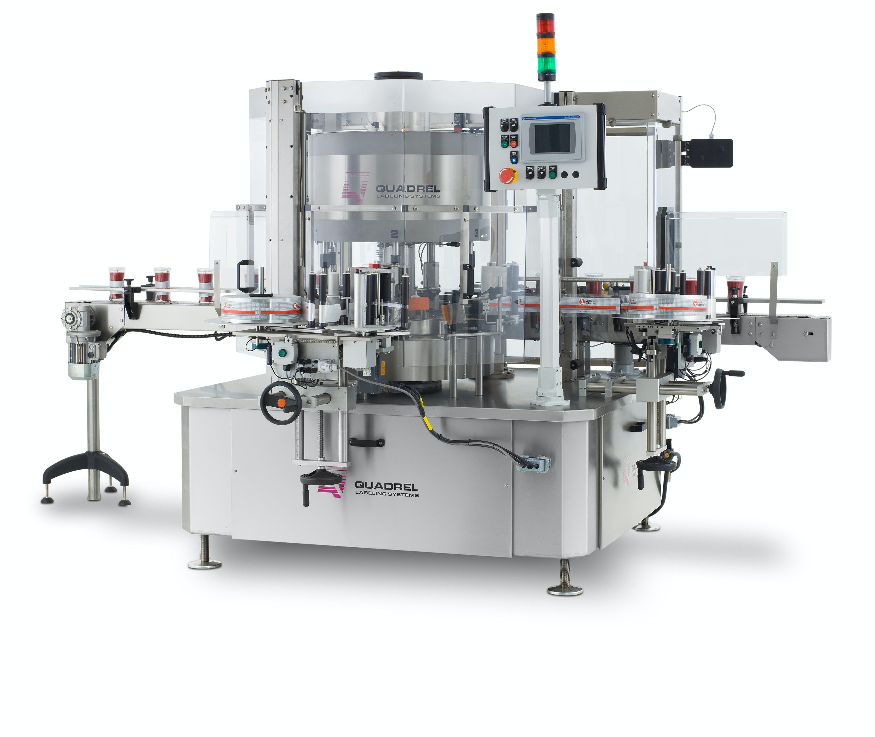 High speed pressure sensitive labeling system Labeling machine sold by BPM SYSTEMS