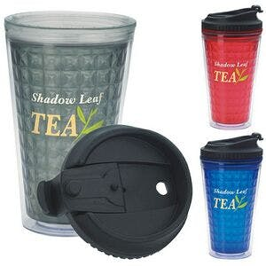 Good Value 18 Oz. Double Wall Acrylic Tumbler W/ Black Lid   Plastic cup sold by Dechan, Inc. II