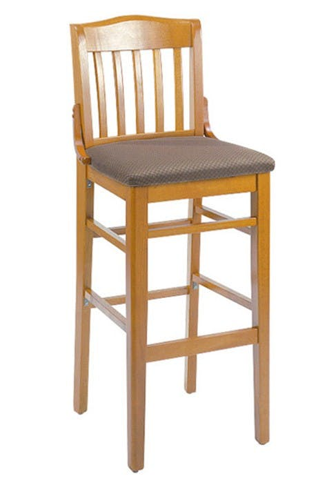 G & A Seating 9510PS - Schoolhouse Bar Stool (12 per Case) Barstool sold by Elite Restaurant Equipment