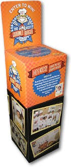 Ballot Boxes - Corrugated Cardboard - 4 color lithographic laminate - sold by Cactus Corrugated Containers Inc.