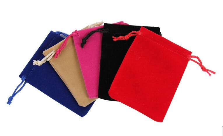 Drawstring Velvet Pouch (Item # CJHLQ-JCDPB) Velvet bag sold by InkEasy