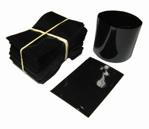 Black Shrink Bands for Sauce Bottles with 38mm Finish Shrink band sold by Fillmore Container Inc