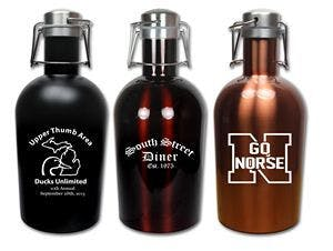 Colored Stainless Steel 64 Oz. Growler Growler sold by Ink Splash Promos, LLC