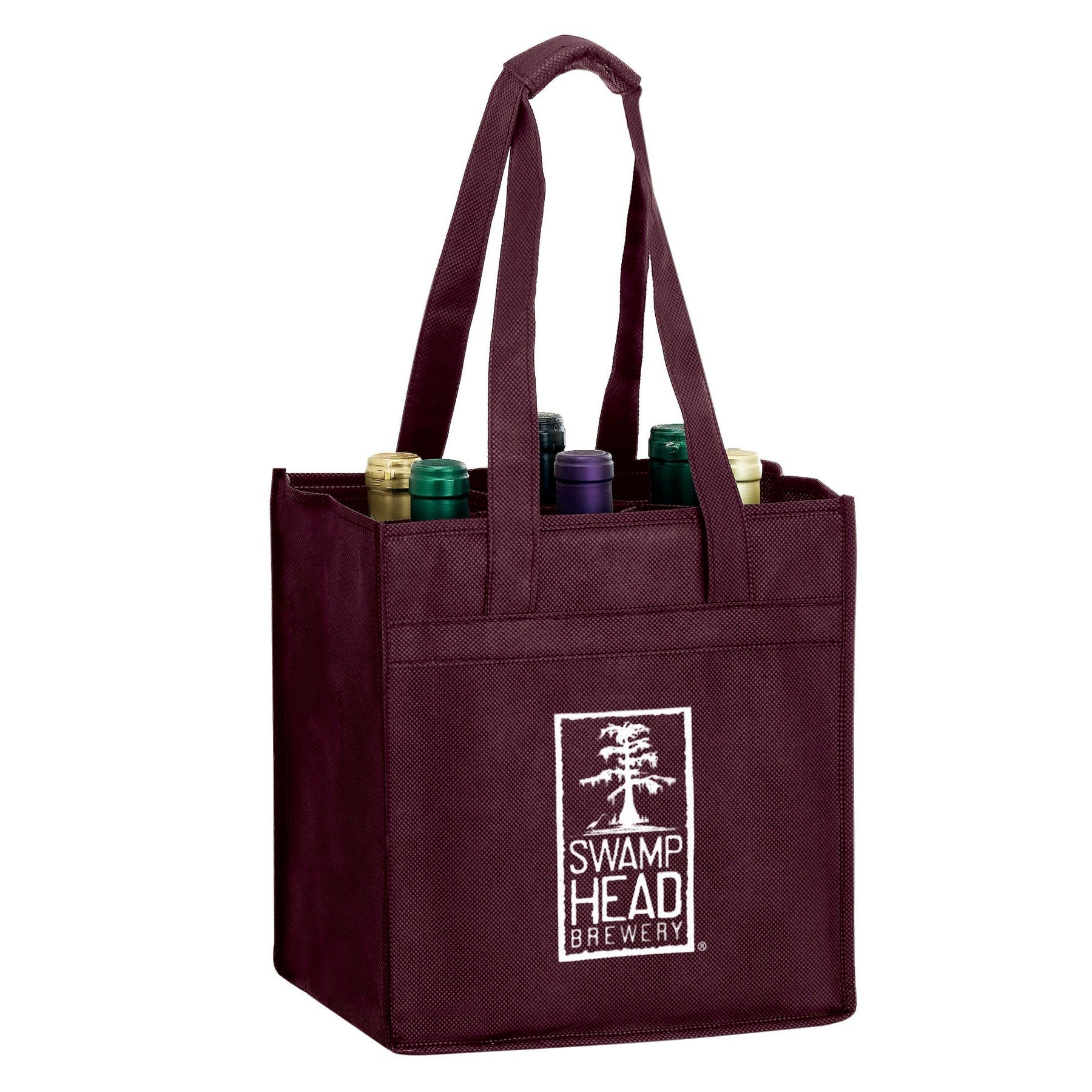 Bag with 6 Wine Bottle Capacity (Item # FDLML-GWMDW) Bottle carrier sold by InkEasy