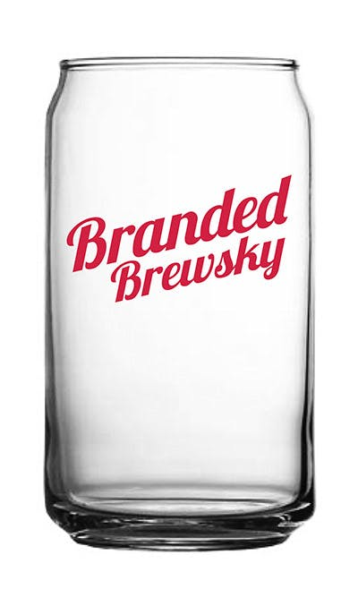 BC-12 16oz Beer Can Glass Beer glass sold by Branded Brewsky