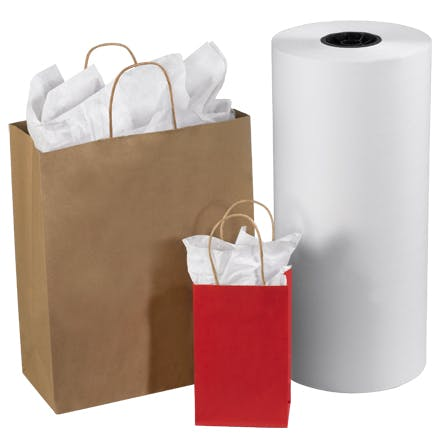 White Tissue Paper Roll Paper packaging sold by Ameripak, Inc.