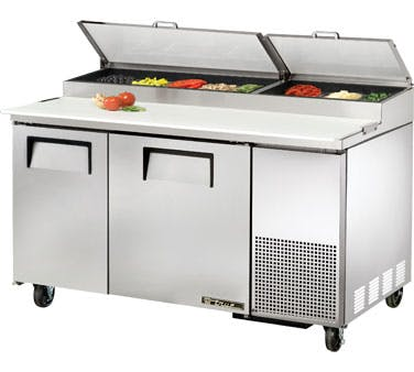 2 Door Refrigerated Pizza Prep Table Food prep table sold by ChefsFirst