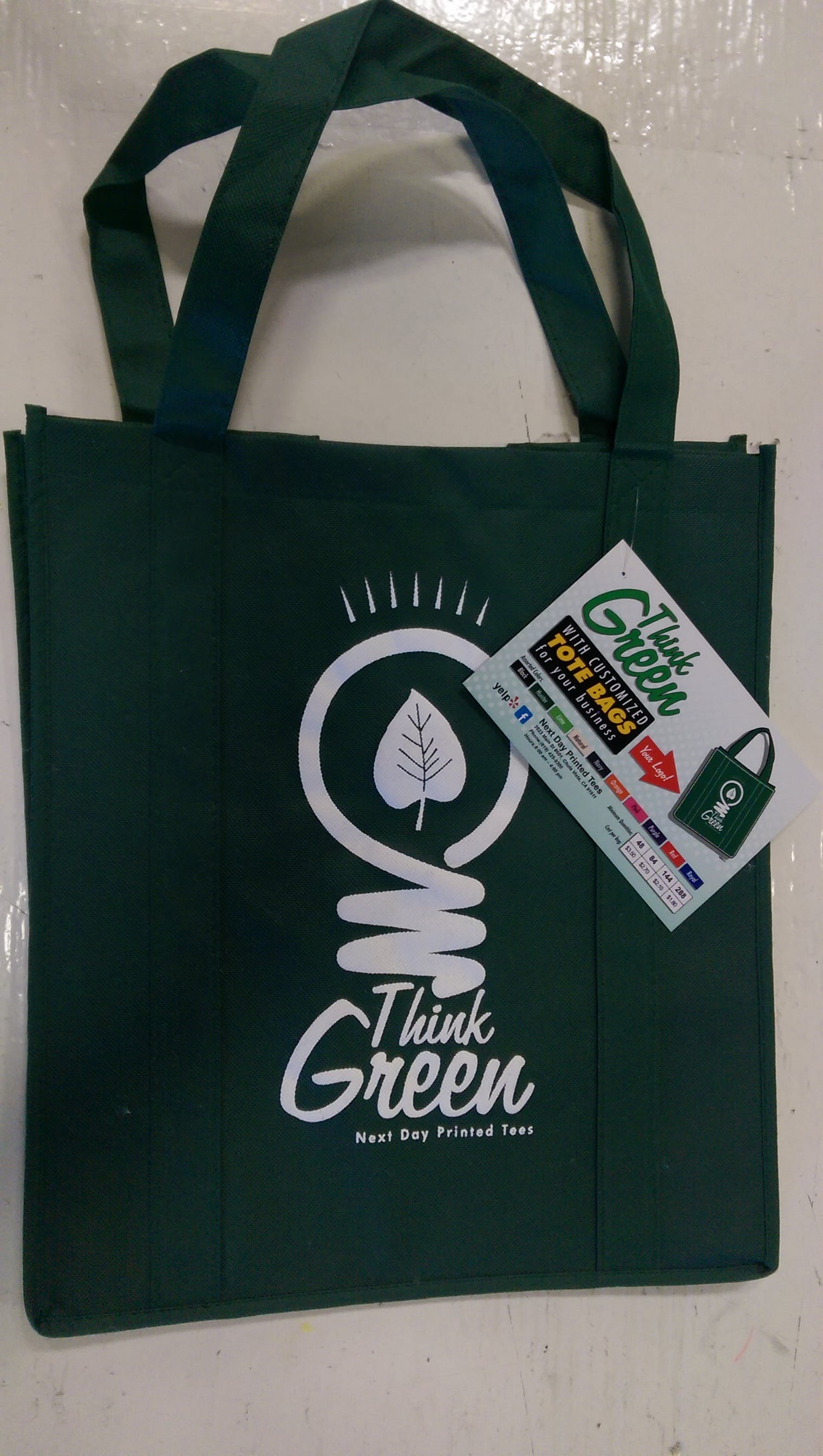 Grocery Tote Bags.  Promotional apparel sold by Next Day Printed Tees