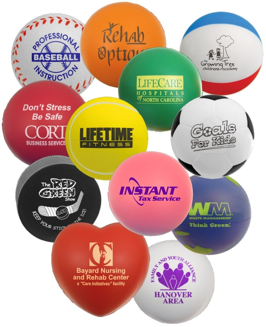 Custom Foam Stress Reliever Ball (Item # UDKHU-GGNXB) Stress ball sold by InkEasy