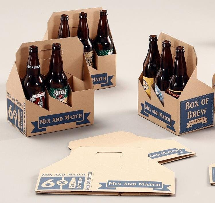 Beer and Wine Carriers Bottle carrier sold by Whalen Packaging