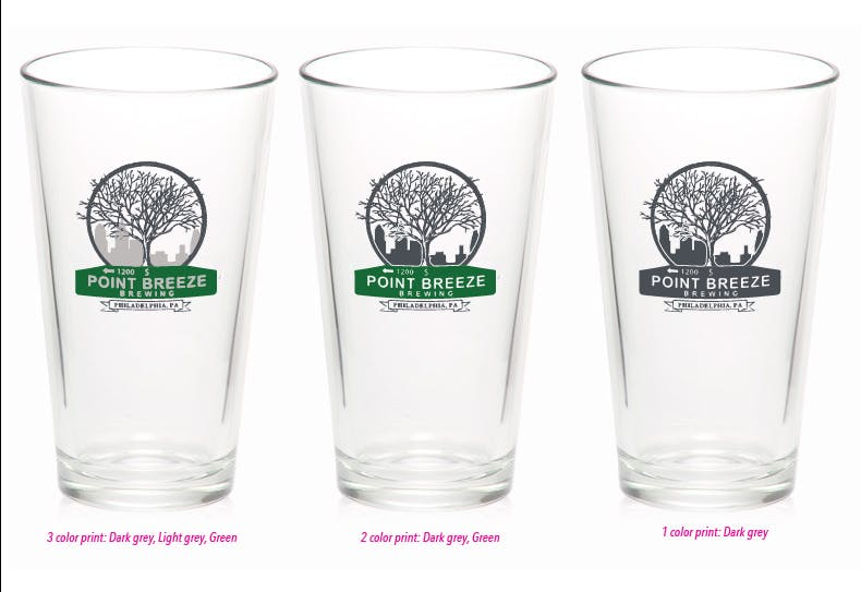 16oz budget pint glass Beer glass sold by Luscan Group