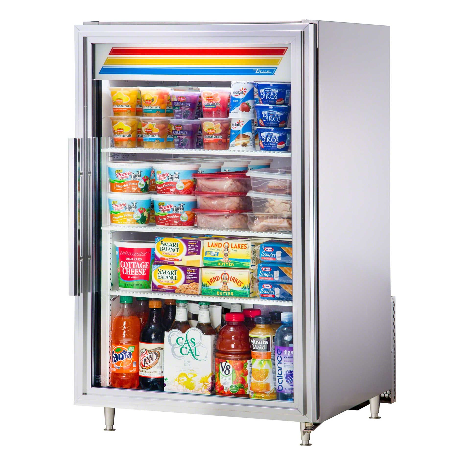 "True - GDM-7-S-LD 24"" Countertop Glass Door Merchandiser Refrigerator LED Commercial refrigerator sold by Food Service Warehouse"