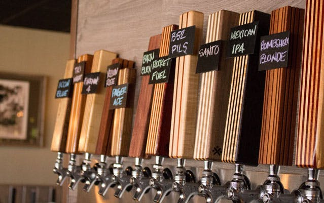 Seasonal Series Tap Handles with Tap Sign removable chalkboards. Tap handle sold by Half Yankee Workshop