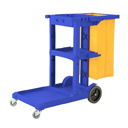 Commercial Housekeeping Janitorial cart with Vinyl Bag AF08170 Blue - sold by Meilestone