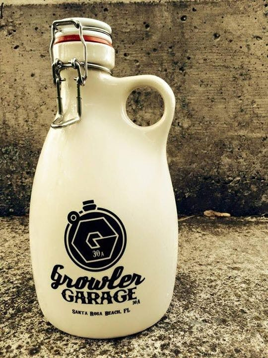 64oz. Stoneware - One color print - Slip Cast, Hand Poured, Stoneware Growlers - sold by Orange Vessel Company