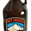 Full Color Direct Print Amber Glass Growlers