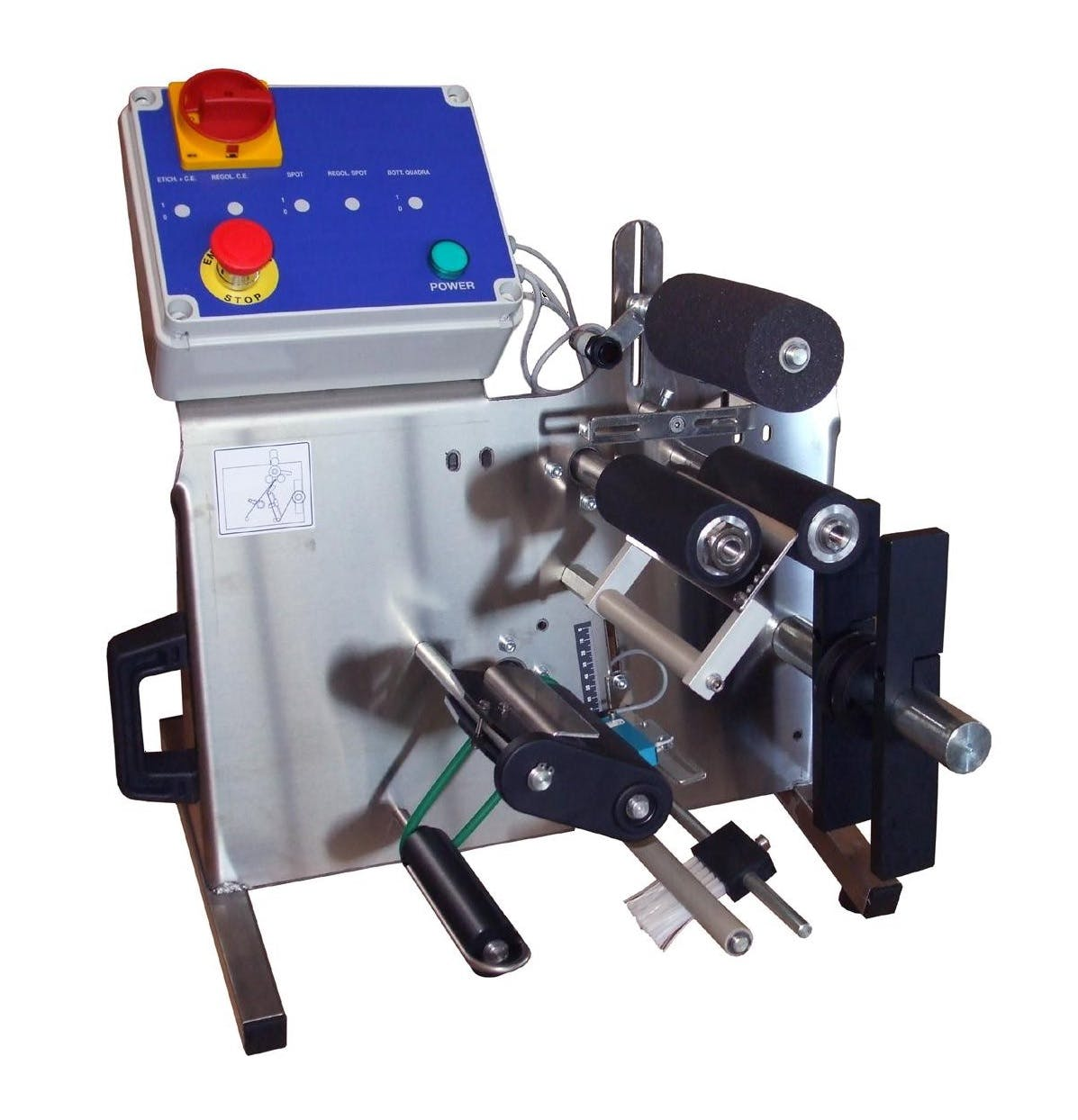 Semi-automatic labeler Bottle labeler sold by The Compleat Winemaker