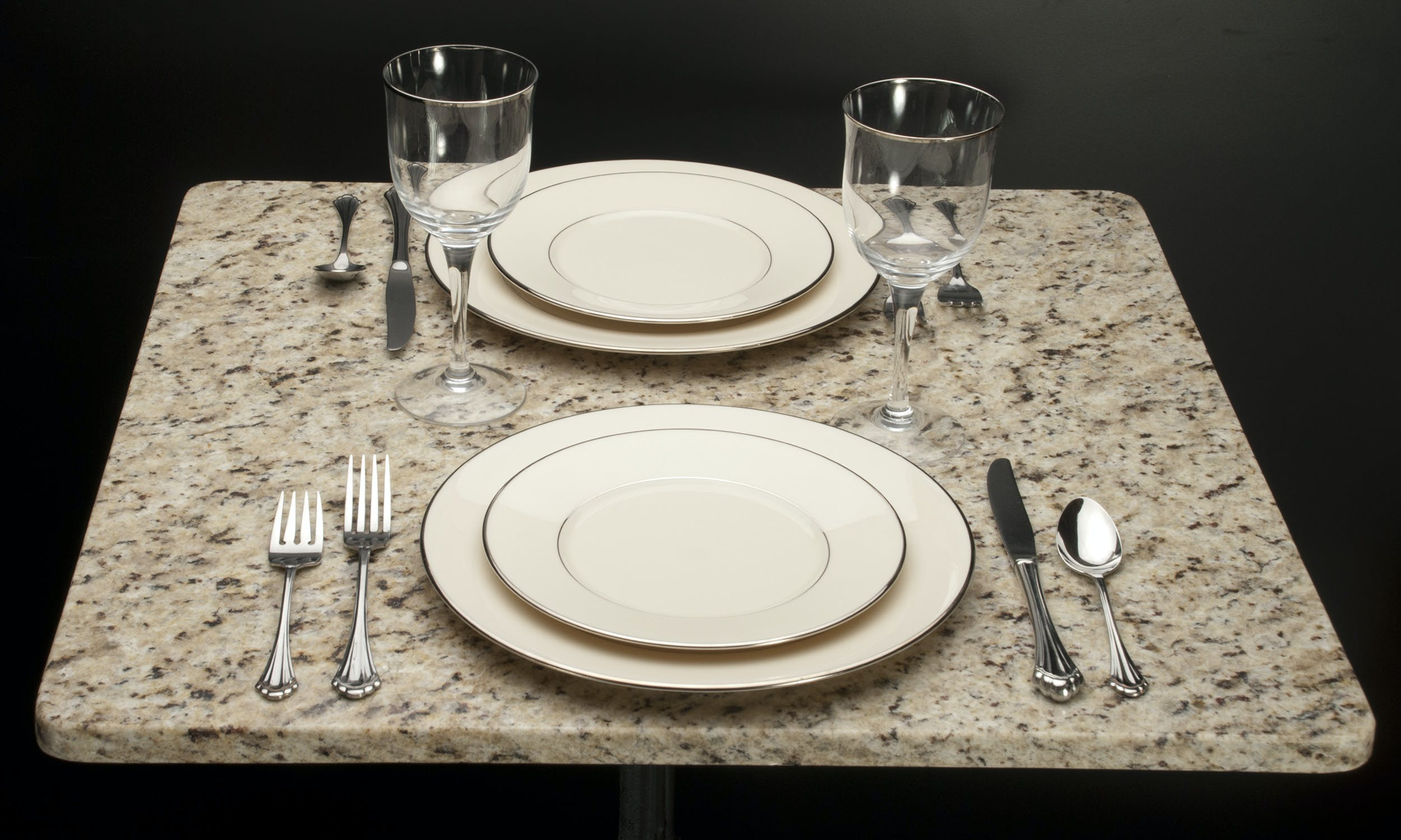 Giallo Ornamental Granite Table top sold by Cafe Tables