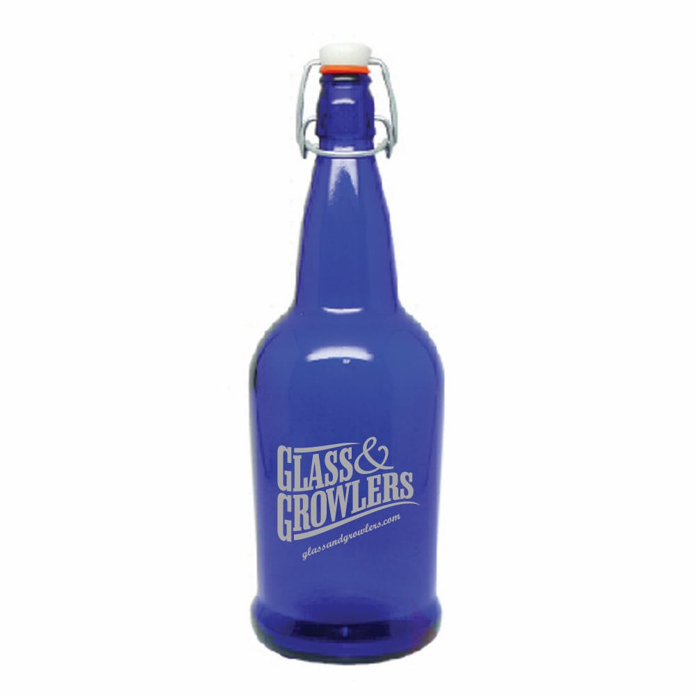 1L EZ Cap Cobalt Growler sold by Glass and Growlers