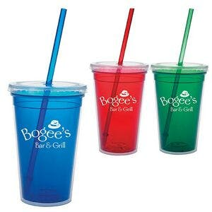 18 Oz. Double Wall Translucent Tumbler Plastic cup sold by Dechan, Inc. II