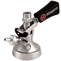 Kegco Keg Taps Coupler M System - Ergonomic Lever Handle - Stainless Steel Probe Model:KT2410W-M Keg coupler sold by Beverage Factory