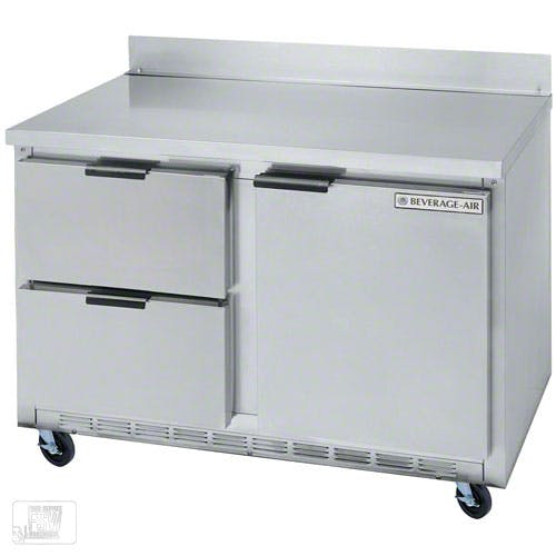 "Beverage Air - WTRD48A-2 48"" Worktop Refrigerator w/ Drawers Commercial refrigerator sold by Food Service Warehouse"