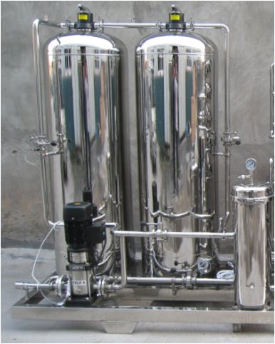 2200 Liter per hour Carbon Water Treatment System Water treatment equipment sold by Brew Bev
