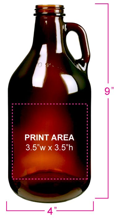 32 oz. AMBER Mini Growler Growler sold by DecoPrint of Chattanooga