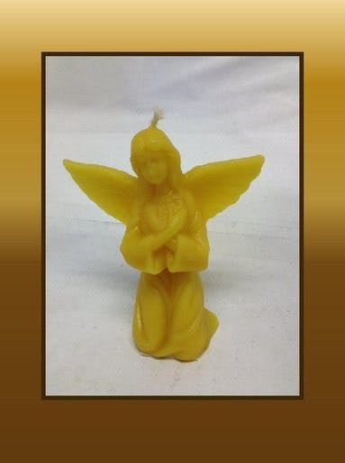 ANGEL CANDLE - MEDIUM Candle sold by Bennett's Honey Farm