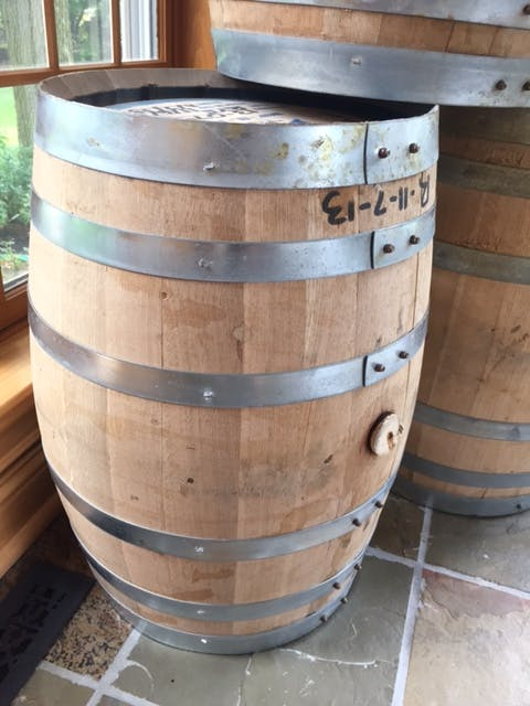 15 gallon Rye Whiskey Barrel sold by The Barrel Broker