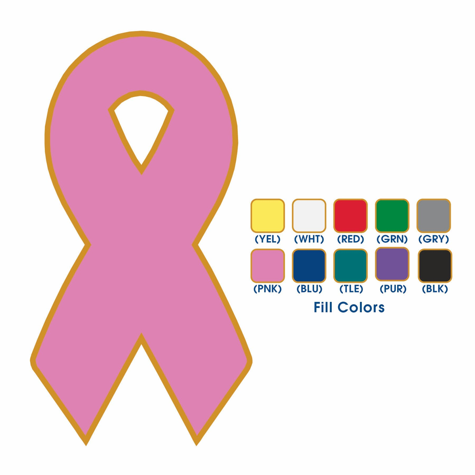 Awareness Ribbon Lapel Pin (Item # DJMJQ-HNUBJ) Lapel pin sold by InkEasy