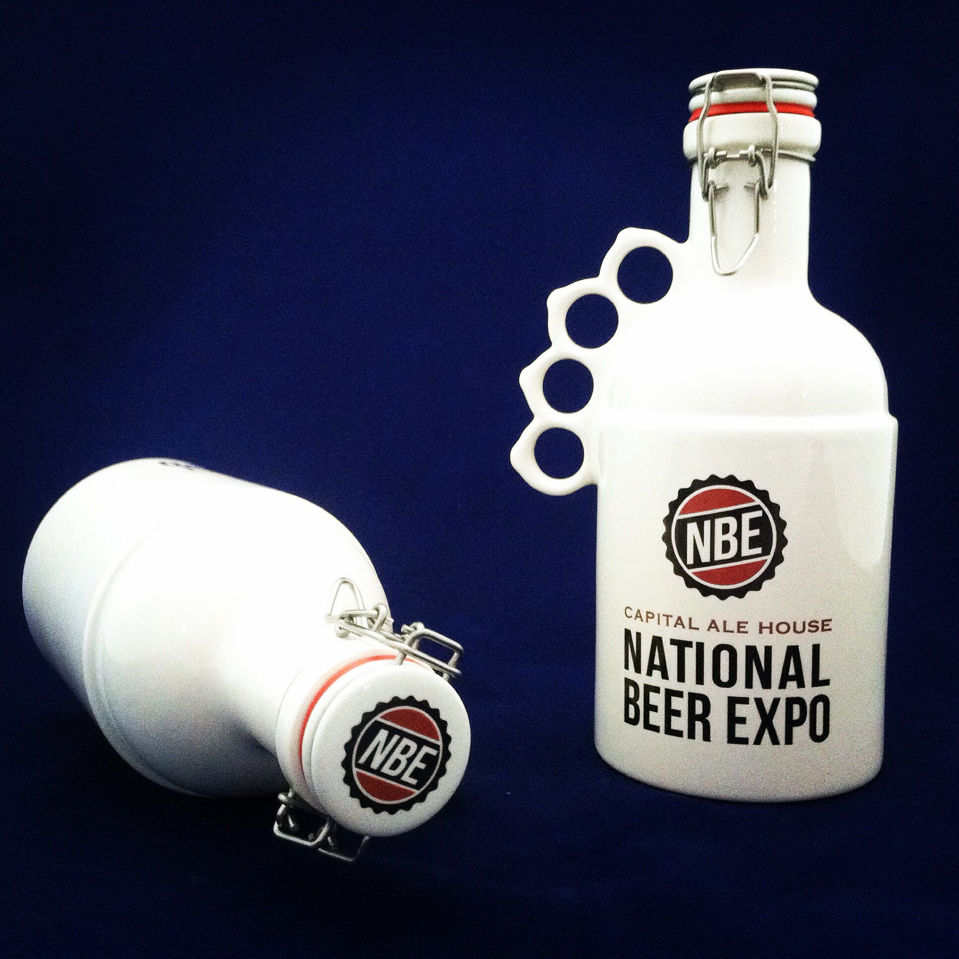 """Peacemaker in white (National Beer Expo) - """"The Peacemaker"""" - sold by Goose Creek Growler Co."""