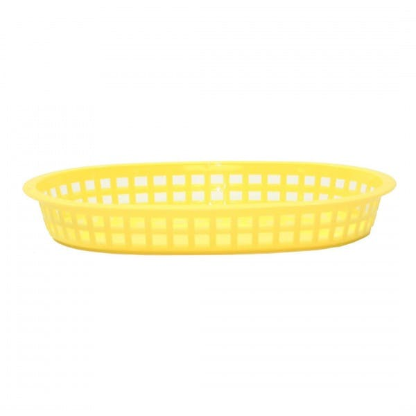 Chicago Platter Yellow Plastic Oval Serving Basket