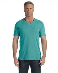C4099 Comfort Colors 5.5 oz. V-Neck T-Shirt Promotional shirt sold by Lee Marketing Group