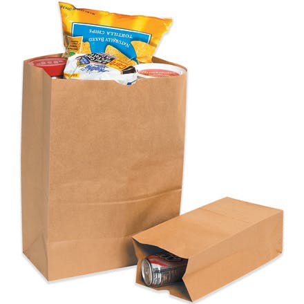 Kraft Grocery Paper Bags Paper packaging sold by Ameripak, Inc.