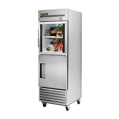 "True ( T-23-1-G-1 ) - 27"" Combination Half-Door Reach-In Refrigerator Commercial refrigerator sold by Food Service Warehouse"