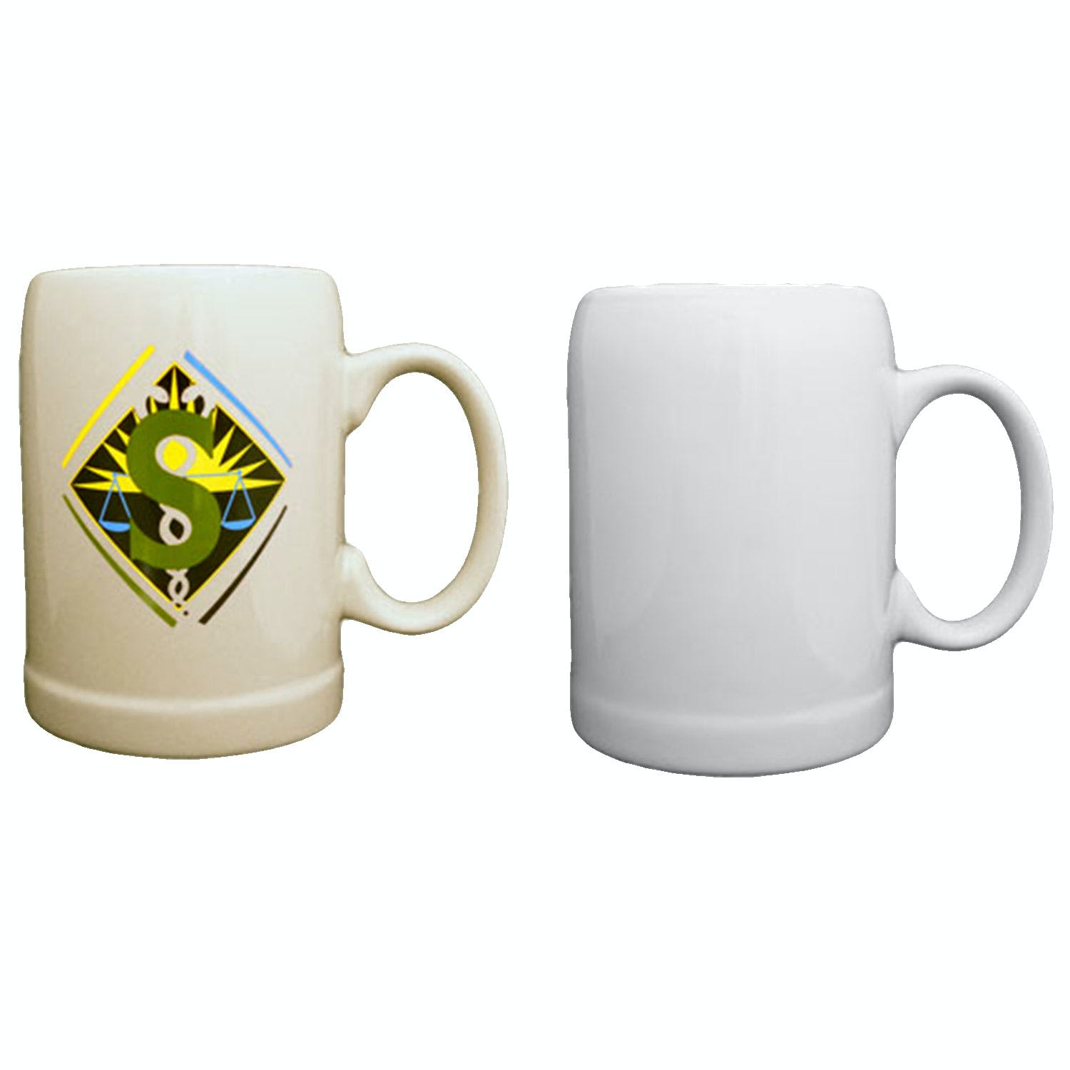 20oz Ceramic Beer steins, available in white and natural beige! Beer glass sold by PyroGraphics
