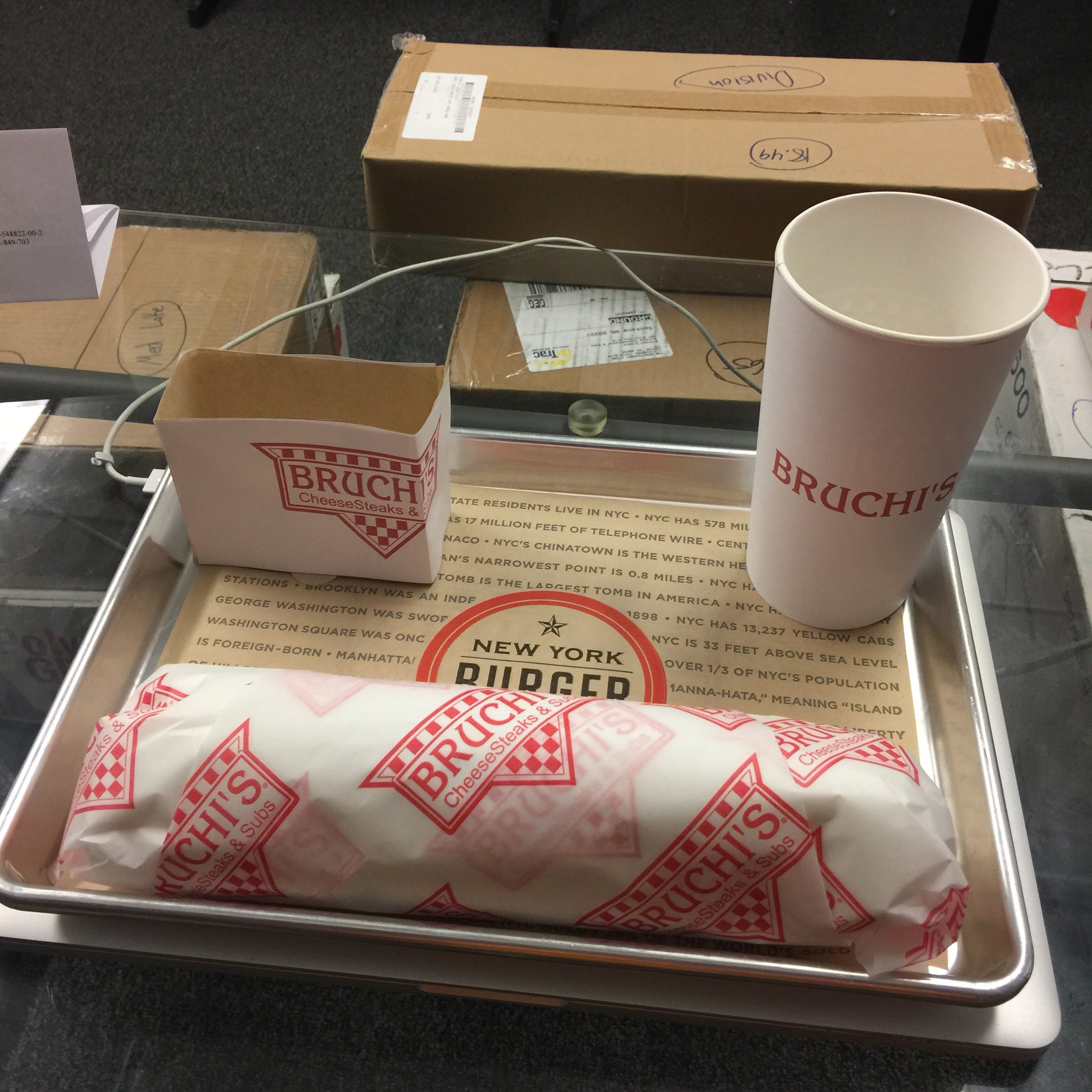 Custom printed paper tray liner or food wrap