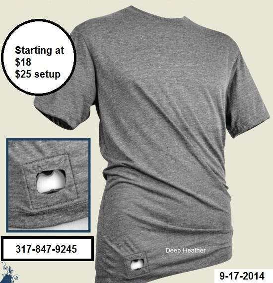 Bottle Opener Tee Shirt Promotional apparel sold by Professional Gifting