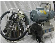 3/4 HP Mini-Milker milking machine for COWS with ONE 4 gal Stainless bucket assembly