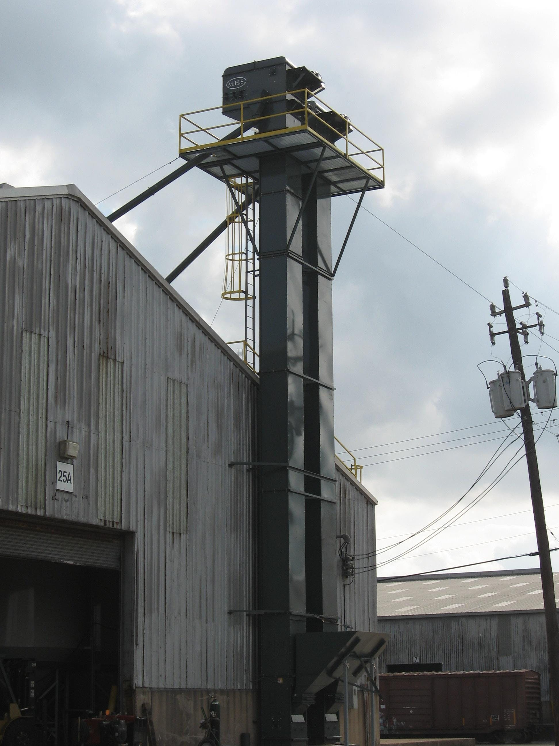 Bucket elevators Bucket elevator sold by EAS Corp