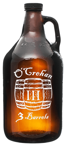64-AMB 64oz Amber Growler Growler sold by Branded Brewsky