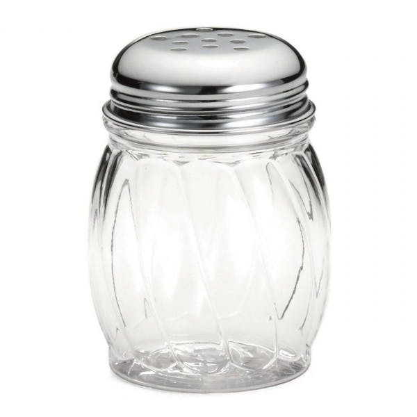 6 oz. Plastic Cheese Shaker w/ Perforated Top