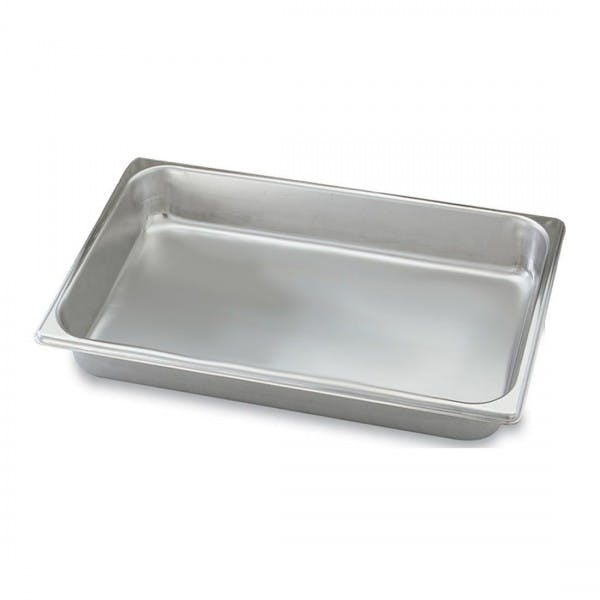 """4"""" Deep Third Size Stainless Steam Table Pan - VOL20349"""