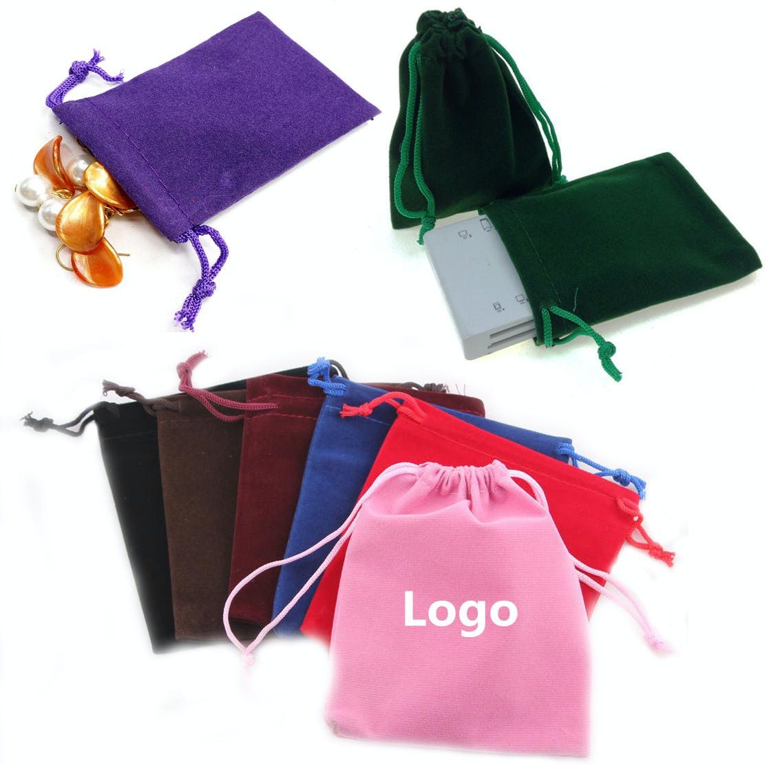 Drawstring Velvet Pouch (Item # CDKKL-KAKFK) Velvet bag sold by InkEasy