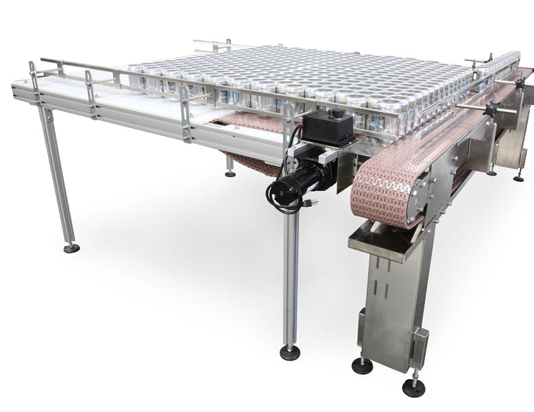 Can Feed Conveyor Can filler sold by American Beer Equipment